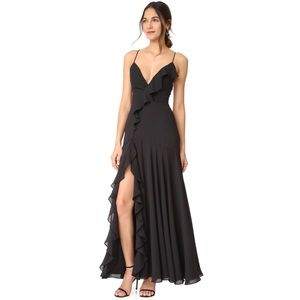 FAME AND PARTNERS CALLAIS TIE BACK MAXI DRESS